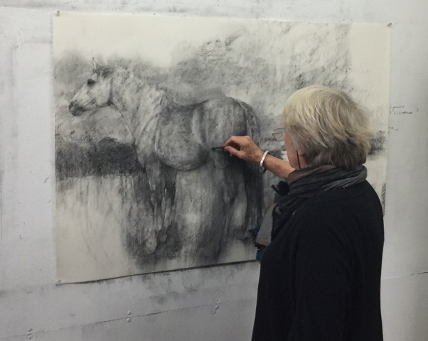 Bridget Macdonald in her studio
